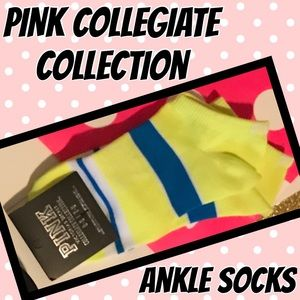 💗 PINK Collegiate Collection Logo Ankle Socks